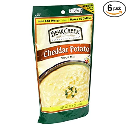 Amazon.com : Bear Creek Country Kitchens Cheddar Potato Soup Mix ...