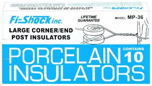 Fi-Shock Mp-36 Large Corner Or End Post Porcelain Insulator, 10-Per Box