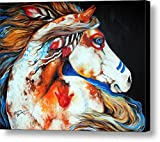 100% Hand-Painted No Frame Spirit Indian War Horse Decoration Animal Painting on canvas 20 x 16 in 50.8 x 40.64 cm