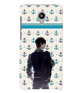 PrintVisa Cool Boy Navy Cool 3D Hard Polycarbonate Designer Back Case Cover for Meizu M2