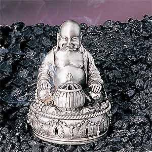 New Buddha Collectible Pewter Cone Incense Burner Aromatherapy