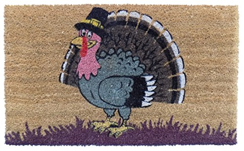 Imports Decor Turkey Vinyl Backed Coir Doormat, 30 by 18 by 1/2