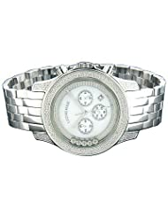 Luxurman Designer Watches Floating Diamond Watch .55ct