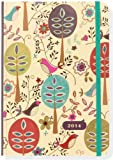 2014 Folk Art Birds 16-Month Weekly Planner (Compact Engagement Calendar, Diary)