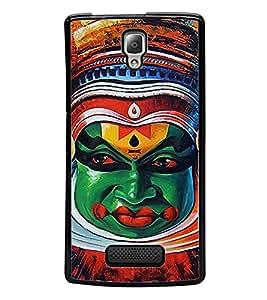 Kathakkali Dance Face mask 2D Hard Polycarbonate Designer Back Case Cover for Lenovo A2010