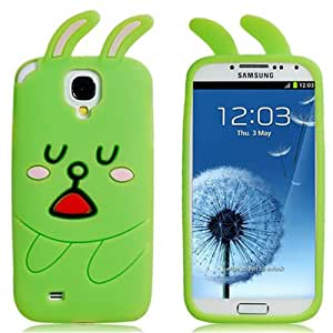 Silicone Cartoon Rabbit Protective Case for Samsung Galaxy S4/i9500 (Green)
