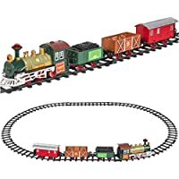 Best Choice Products Kids Classic Battery Operated Railway Train Set with Music & Lights
