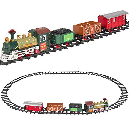 Best Choice Products Kids Classic Battery Operated Railway Train Set with Music & Lights, Multicolor (Toy Trains For Kids compare prices)