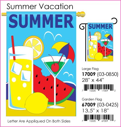 Summer Vacation Flag Indoor/Outdoor 28