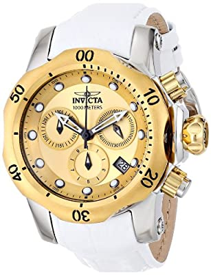 Invicta Women's 16090 Venom Analog Display Swiss Quartz White Watch
