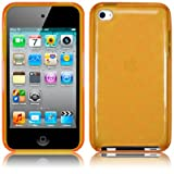 APPLE IPOD TOUCH 4TH GENERATION GEL CASE - ORANGE PART OF THE QUBITS ACCESSORIES RANGEby Qubits