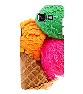 printtech Colored Icecream Cone Back Case Cover for Samsung Galaxy A7 (2016)