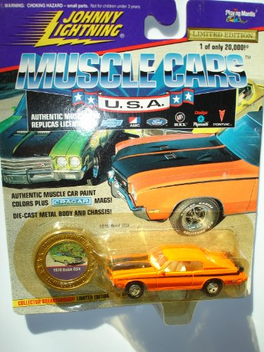 Johnny Lightning 1996 Muscle Cars USA Orange 1970 Buick GSX Series 1 - 1