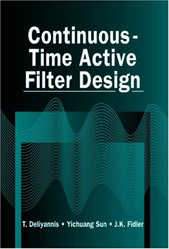 Continuous-Time Active Filter Design (Electronic Engineering Systems)