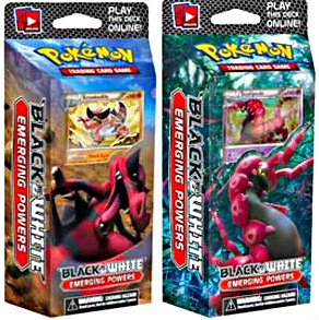 Pokemon Trading Card Game Set of Both Emerging Powers (BW2) Theme Decks Toxic Tricks Power Play