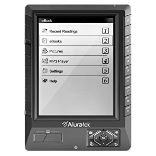 Aluratek Libre Digital Book Reader (AEBK01FS) with 5