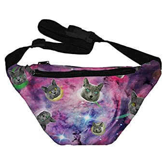 Amazon.com: Funny Guy Mugs Space Cat Fanny Pack: Clothing