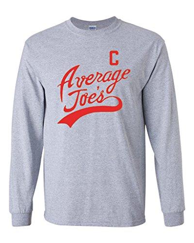 [Long Sleeve Adult T-Shirt Average Joe's Movie Costume Dodge Ball Halloween DT (Large, Sports Gray)] (Globo Gym Halloween Costumes)