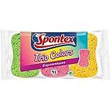 Spontex  Eponges Couleurs  3 Eponges Trio Colors  Lot de 3