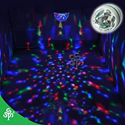 TSSS® E27 LED full color rotating lamp+voice control,stage light,make your party amazing,24 months warranty from TSSS