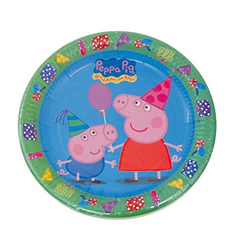 Peppa Pig - 8 platos, 23 cm (Verbetena 016000721)