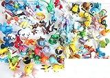 Lots 24 Pcs Pokemon Pikachu Monster Mini Plastic Figures Randomly Small Size Gift