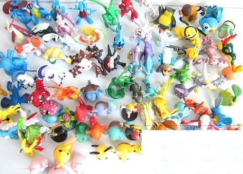 Lots 24 Pcs Pokemon Pikachu Monster Mini Plastic Figures Randomly Small Size Gift - 1