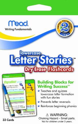 Mead Lowercase Letter Stories Dry Erase Flash Cards front-152390