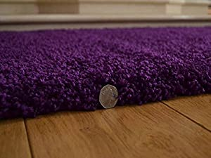 Soft Touch Shaggy Purple Thick Luxurious Soft 5cm Dense Pile Rug. Available in 7 Sizes by Rugs Supermarket