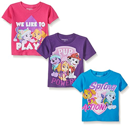 Paw Patrol Girls' Multi Pack T-Shirt