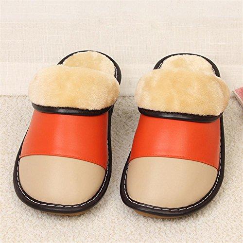 TDXIE Inverno in microfibra antiscivolo cotone caldo piano indoor pantofole Pantofole sandali di pelle 35 36 37 38 39 40 , f , 35-36