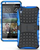 Heartly Flip Kick Stand Spider Hard Dual Rugged Armor Hybrid Bumper Back Case Cover For HTC Desire 820 820S 820Q 820G+ Plus Dual Sim - Power Blue