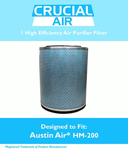Crucial Air Filter Fits Austin Air HM-200 HM200 Air Purifier Filter Fits HealthMate, HealthMate Jr, Designed & Engineered by Crucial Air
