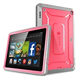 Fire HD 6 Case, SUPCASE [Heavy Duty] Amazon Fire HD 6 Case (4th Generation) 2014 Release [Unicorn Beetle PRO Series] Full-body Rugged Hybrid Protective Case Cover with Built-in Screen Protector for Amazon Fire HD 6 (4th Generation), Pink/Gray - Dual Layer Design + Impact Resistant Bumper