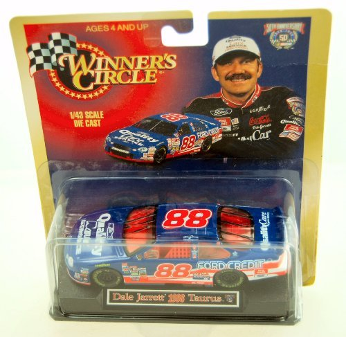 1998-kenner-winners-circle-nascar-50th-anniversary-dale-jarrett-88-ford-taurus-quality-care-ford-cre