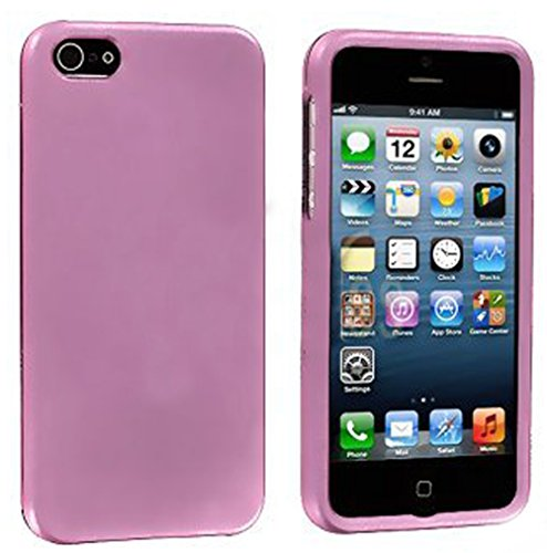 Mylife Light Pink Flat Series (2 Piece Snap On) Hardshell Plates Case For The Iphone 5/5S (5G) 5Th Generation Touch Phone (Clip Fitted Front And Back Solid Cover Case + Rubberized Tough Armor Skin)