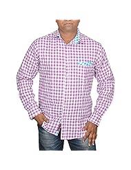 Hunk Men's Pink Cotton Shirt