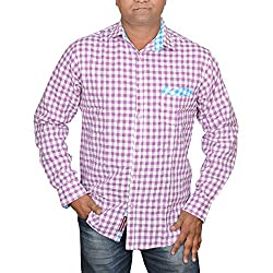 Hunk Men's pink Cotton Shirt