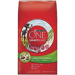 Purina ONE SmartBlend Dry Dog Food, Lamb & Rice Formula, 4-Pound Bag, Pack of 6