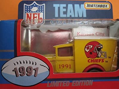 Kansas City Chiefs- Model A Ford-Matchbox White Rose Collectible (1991) Sealed in Original Box