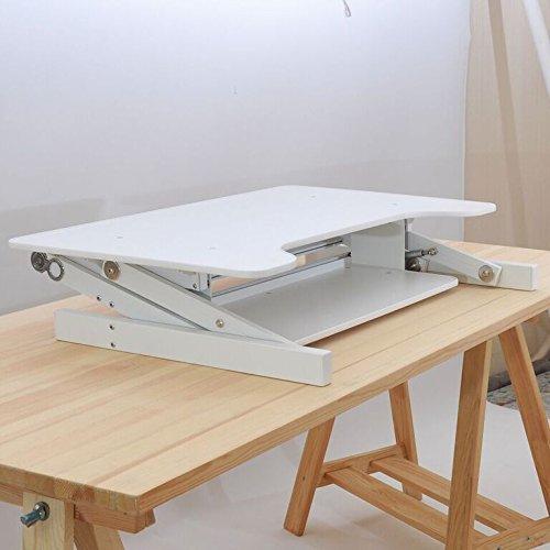 Office Fitness StandEasy scrivania Riser | Workstation Sit-Stand regolabile in altezza | Altezza piedi regolabile Desk - Blanco