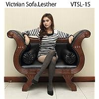 レザー ソファ Victorian Leather 1シーター VTSL-1S アジアン 英国 イタリア【らくらく設置, (一部地域は有料)】2個クッション付き