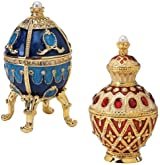 Royal Collection Russian Faberge-Style Enameled Egg