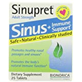 Sinupret Sinus Plus Immune Support Adult Strength Tablets 25ea 25 eaby Sinupret