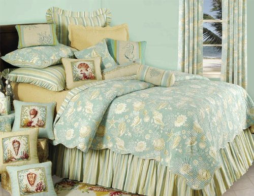 Natural Shells Quilt - Twin (66x86) (Natural Shells Bedding compare prices)
