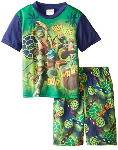 Teenage Mutant Ninja Turtles Big Boys' Out Of Our Way 2-Piece Pajama, Multi, 8