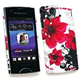 SONY ERICSSON XPERIA RAY (ST-18I) CLIP ON PROTECTION CASE/COVER/SKIN/SKIN ORIENTAL FLOWERS BY KIT ME OUT UK