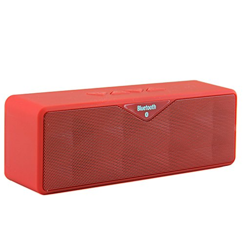 Lb1 High Performance New Wireless Bluetooth Mini Speaker For Allview X1 Soul Dual-Speaker Music System With Built-In Microphone And Micro Sd Card Slot (Red)