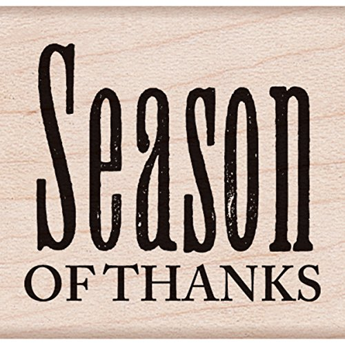 "Hero Arts Season of Thanks Mounted Rubber Stamp, 2.25"" by 2.25"" - 1"