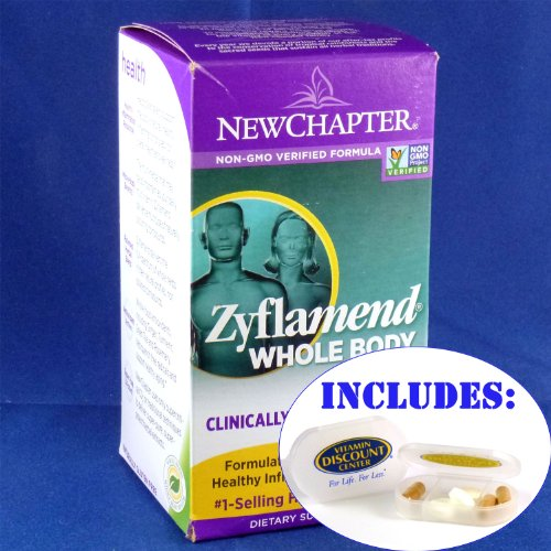 Combo Pack Zyflamend By New Chapter - 180 Softgel Capsules With Pill Box